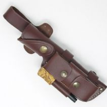 MK II TBS Leather Multi Carry Knife Sheath with DC4 & Firessteel Attachment - Large